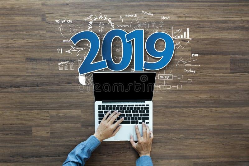 réussite commerciale de la nouvelle année 2019 photos libres de droits