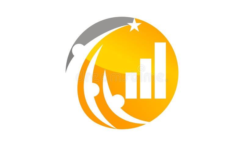 Réussite commerciale Logo Design Template illustration stock