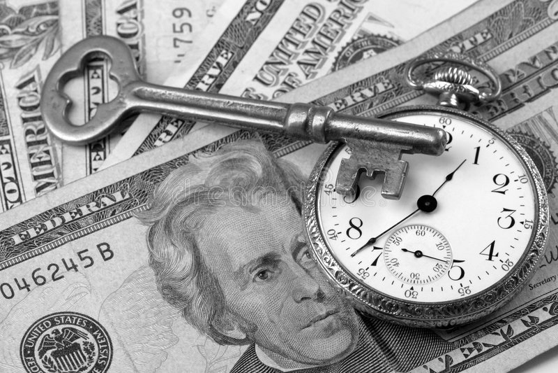 Réussite d'affaires - temps et gestion de fortunes photographie stock libre de droits