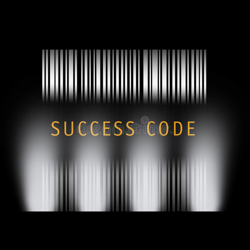 Réussite de code barres illustration libre de droits