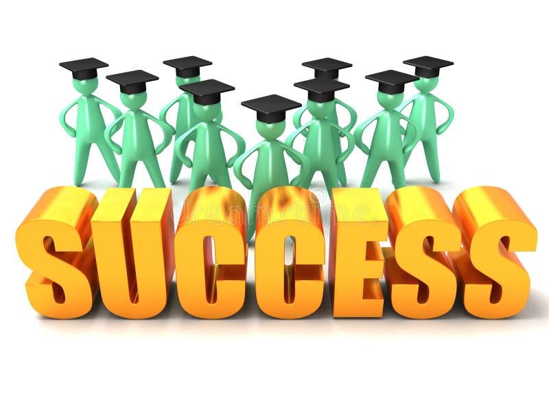 Réussite de graduation illustration de vecteur