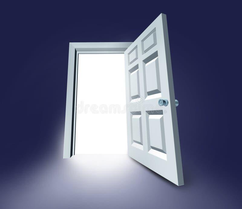 Réussite de porte ouverte par trappe illustration libre de droits