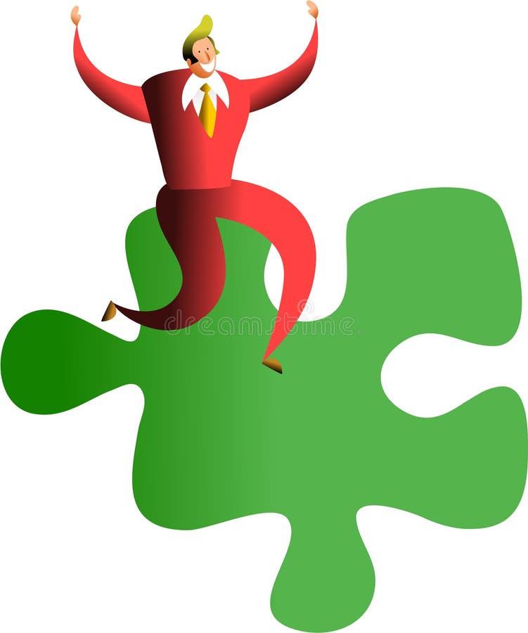 Réussite de puzzle illustration libre de droits