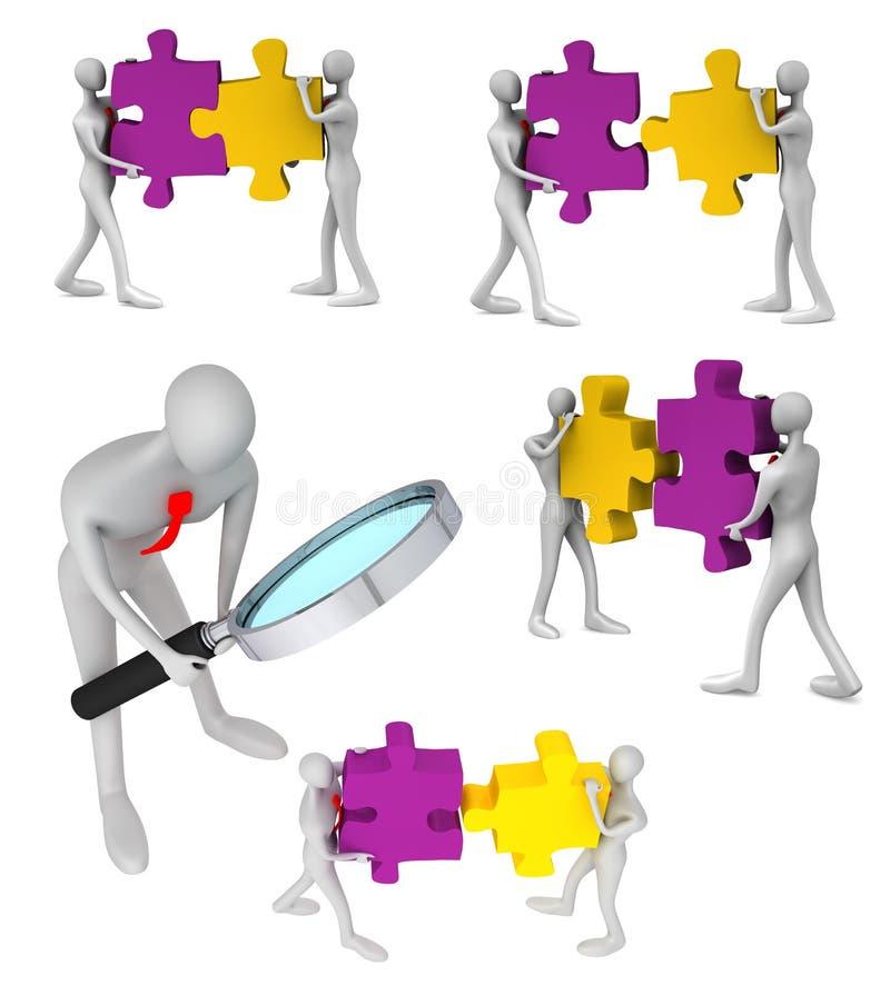 Réussite de travail d'équipe illustration libre de droits