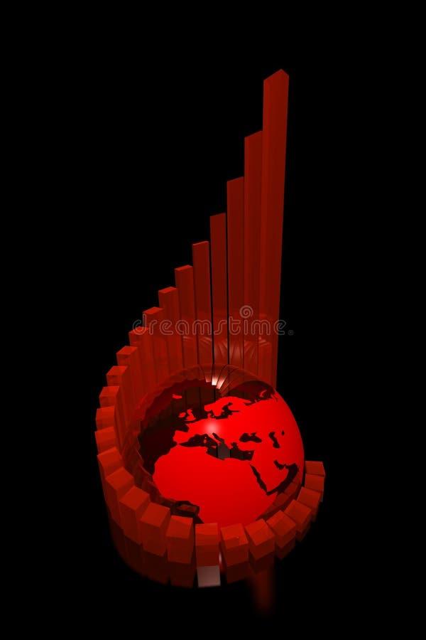 réussite foncée de graphique de l'Afrique l'Europe illustration stock