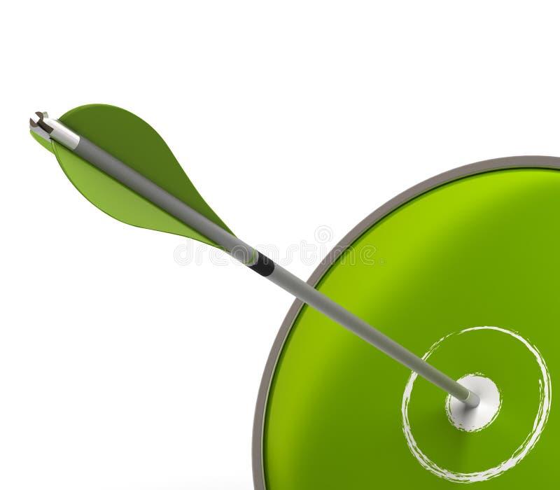 Réussite verte d'affaires illustration de vecteur