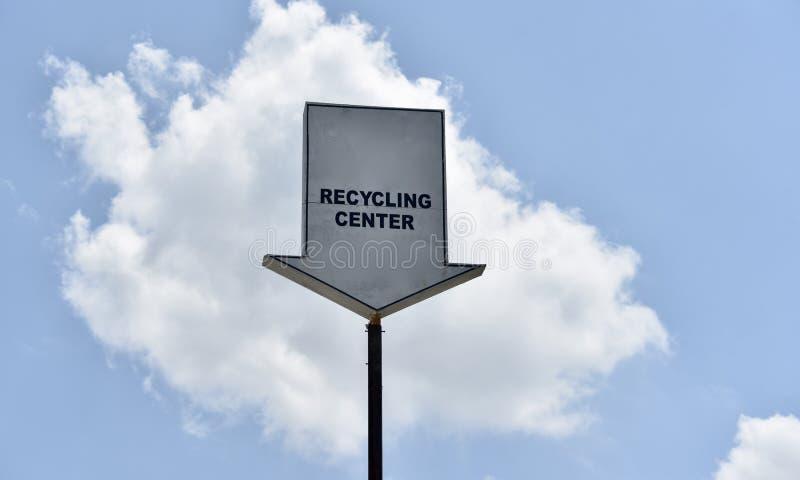 Réutilisant le centre pour convertir les déchets photo libre de droits