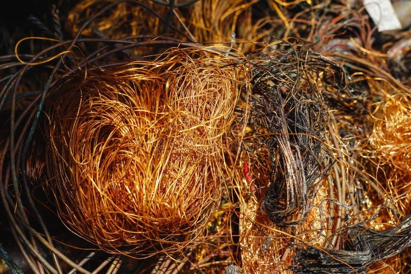 Réutilisation de câblages cuivre utilisée photos libres de droits