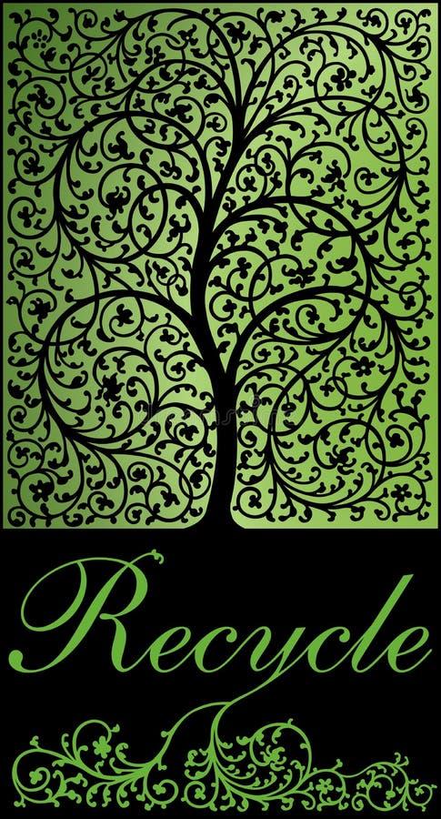 Réutilisation de l'arbre illustration libre de droits