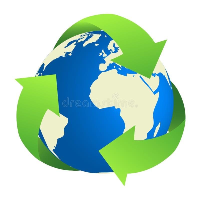 Réutilisation de la terre illustration stock