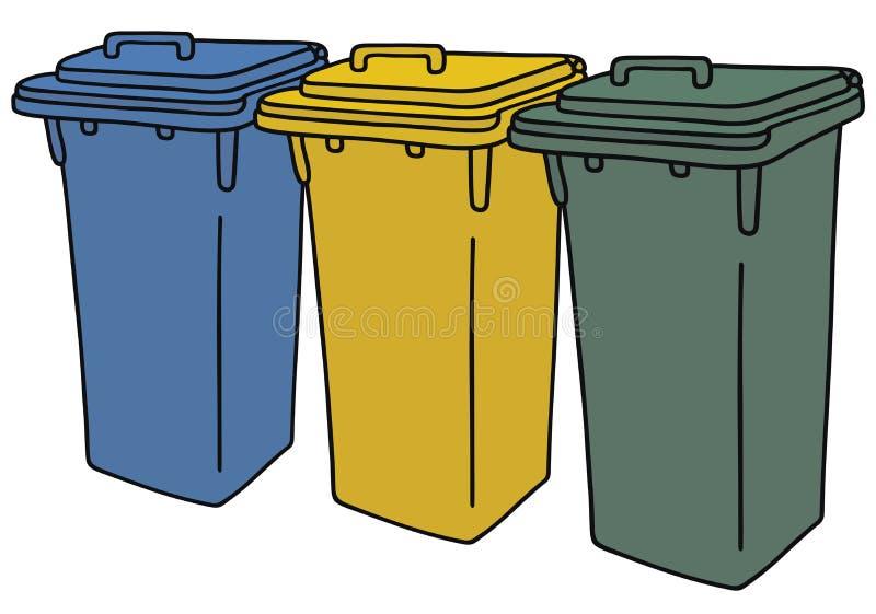 Réutilisation des conteneurs illustration libre de droits