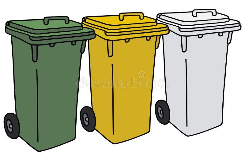 Réutilisation des conteneurs illustration de vecteur