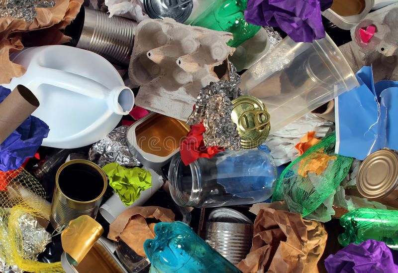 Réutilisation des déchets photo libre de droits