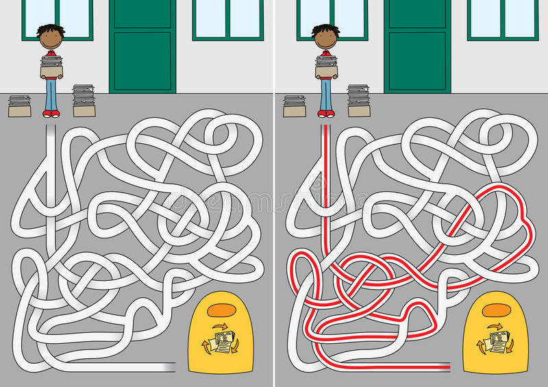 Réutilisation du labyrinthe illustration libre de droits