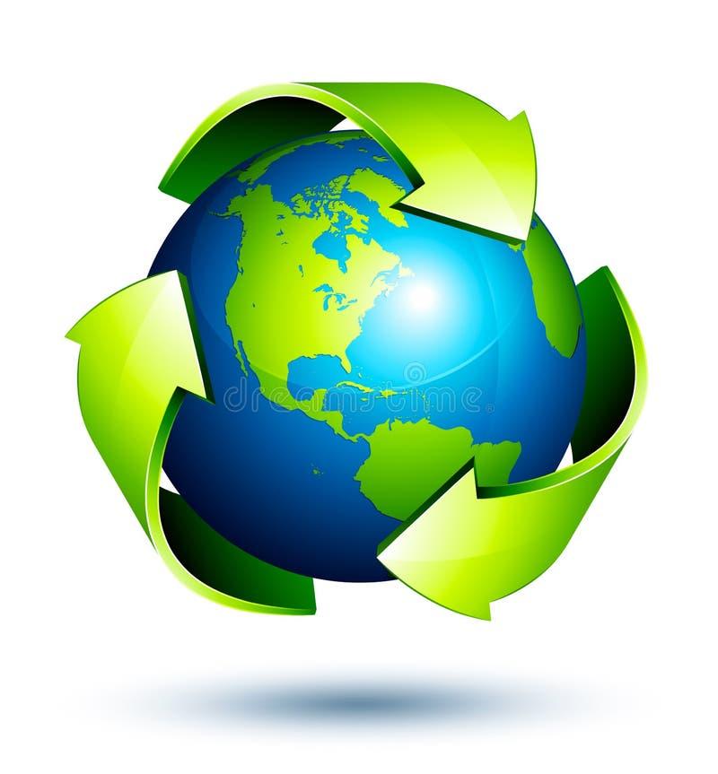 Réutilisation globale illustration stock