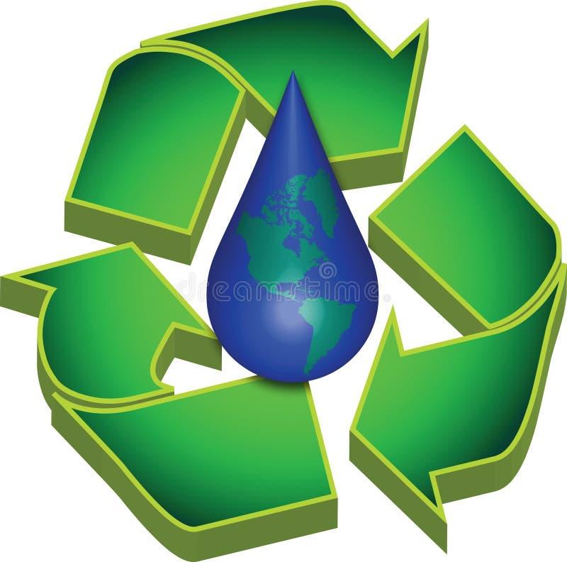 Réutilisez l'eau des terres illustration stock