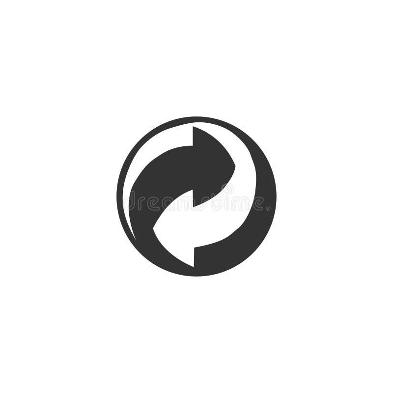Réutilisez l'icône de cercle dans la conception simple Illustration de vecteur illustration de vecteur