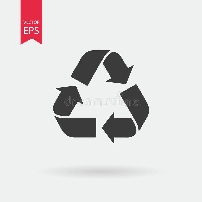 Réutilisez l'icône de vecteur de signe Symbole de déchets Bio concept de rebut d'Eco Signe de flèche d'isolement sur la conceptio illustration libre de droits
