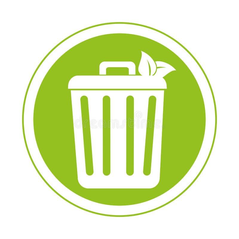 Download Réutilisez L'icône De Symbole D'écologie De Poubelle Illustration de Vecteur - Illustration du économie, normal: 87703607