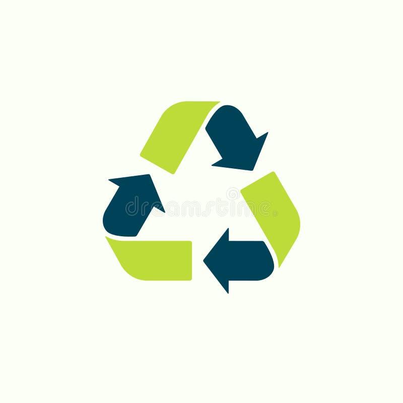 Réutilisez l'illustration de vecteur de signe Symbole de déchets Bio concept de rebut d'Eco Bouton de gradient de vert de flèche  illustration libre de droits
