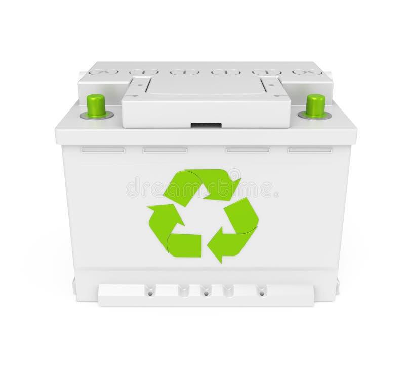 Réutilisez la batterie de voiture d'isolement illustration libre de droits