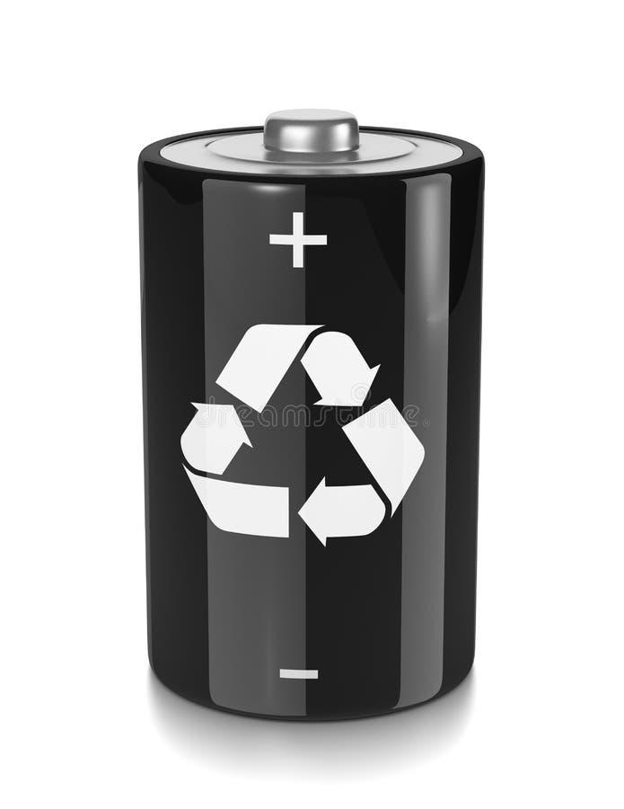 Réutilisez la pile électrique illustration de vecteur