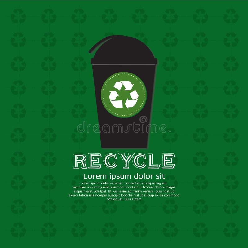 Réutilisez la poubelle. illustration libre de droits