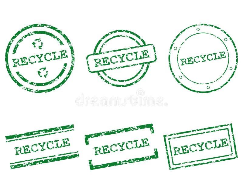 Réutilisez les timbres illustration libre de droits