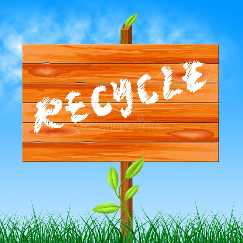 Réutilisez recyclable indique écologique et bio illustration libre de droits