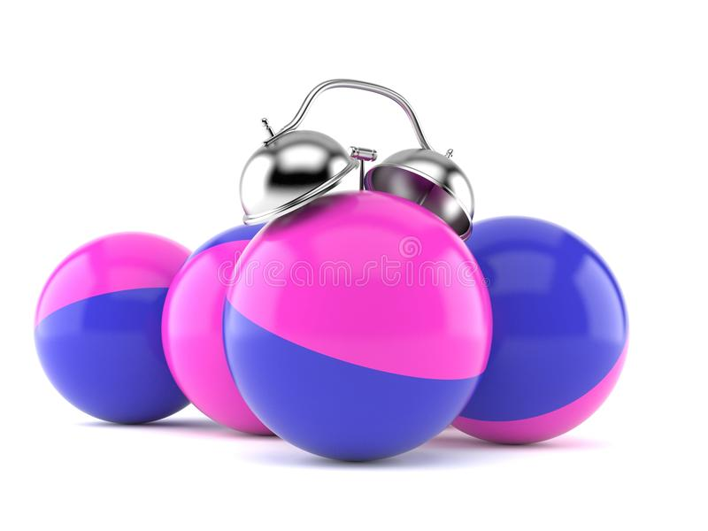 Réveil de boules de Paintball illustration stock