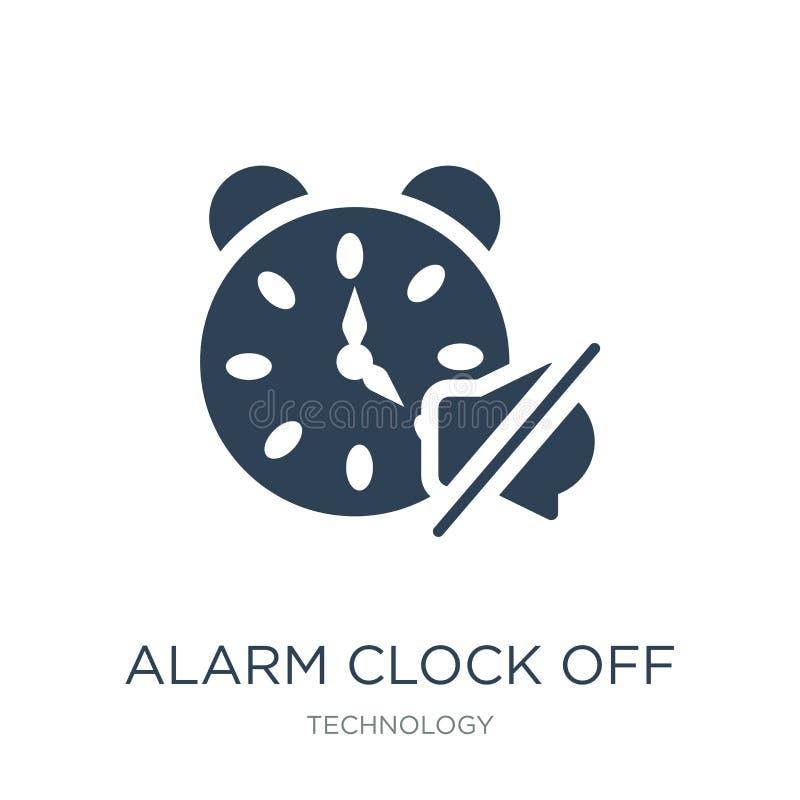 réveil outre d'icône dans le style à la mode de conception réveil outre de l'icône d'isolement sur le fond blanc réveil outre de  illustration de vecteur