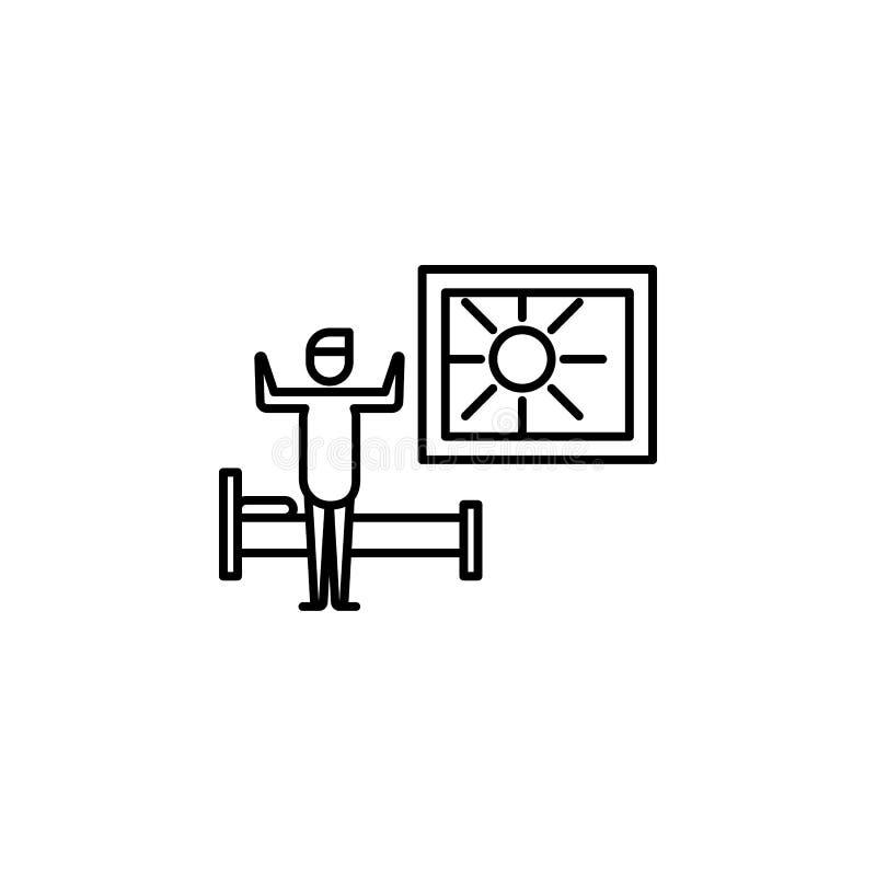 réveillez l'icône d'ensemble Élément d'icône d'illustration de mode de vie Conception graphique de qualit? de la meilleure qualit illustration stock
