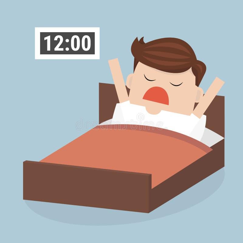 Réveillez le défunt homme d'affaires, style plat de conception d'illustion de vecteur illustration de vecteur