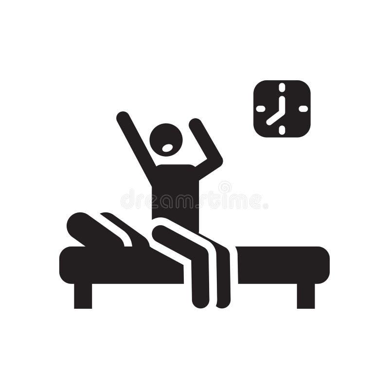 Réveillez le signe de vecteur d'icône et le symbole d'isolement sur le fond blanc, réveillent le concept de logo illustration de vecteur