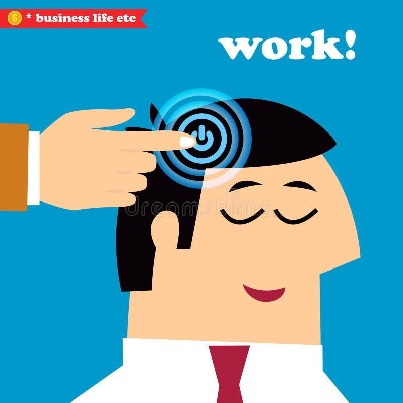 Réveillez-vous et travaillez, des jours de la semaine de bureau illustration libre de droits