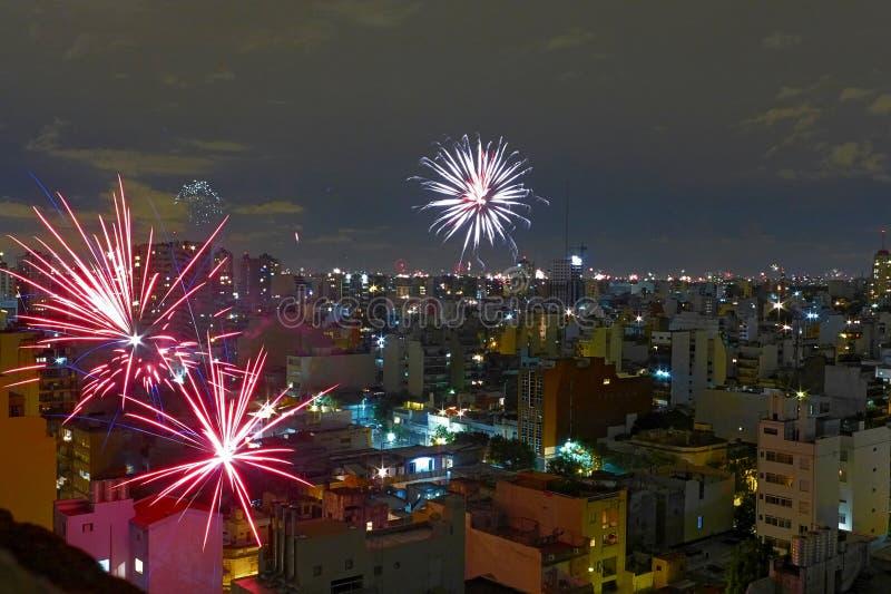 Réveillon de la Saint Sylvestre à Buenos Aires image stock