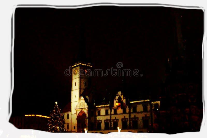 Réveillon de Noël à Olomouc images libres de droits