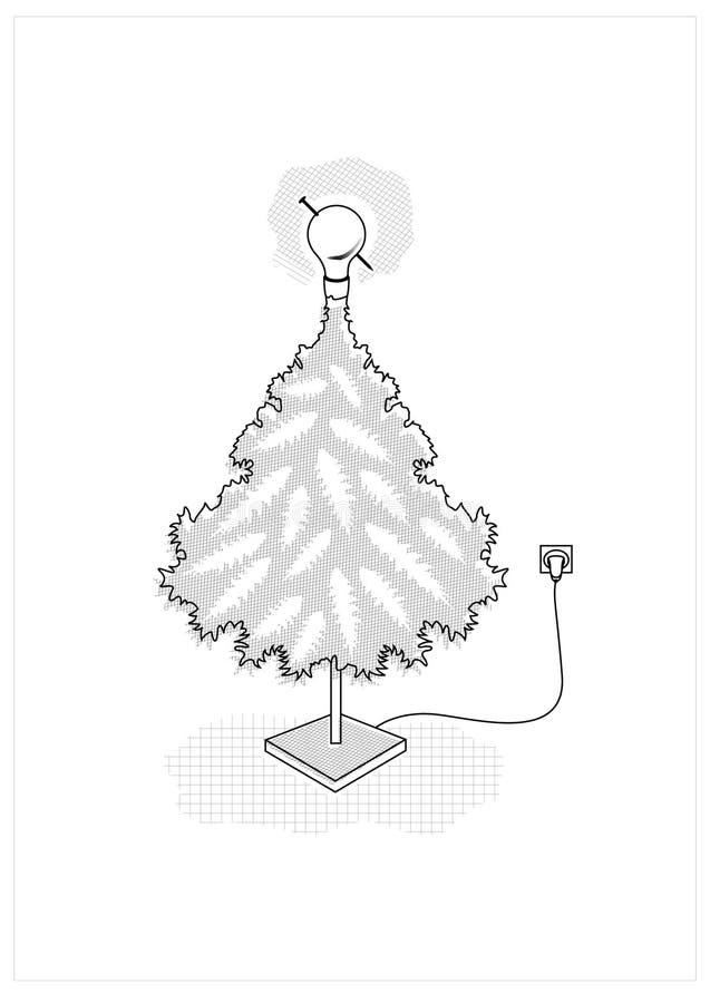 Réveillon de Noël créateur. illustration stock