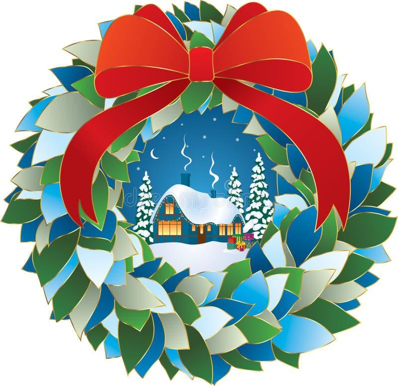Réveillon de Noël de nuit de l'hiver illustration libre de droits