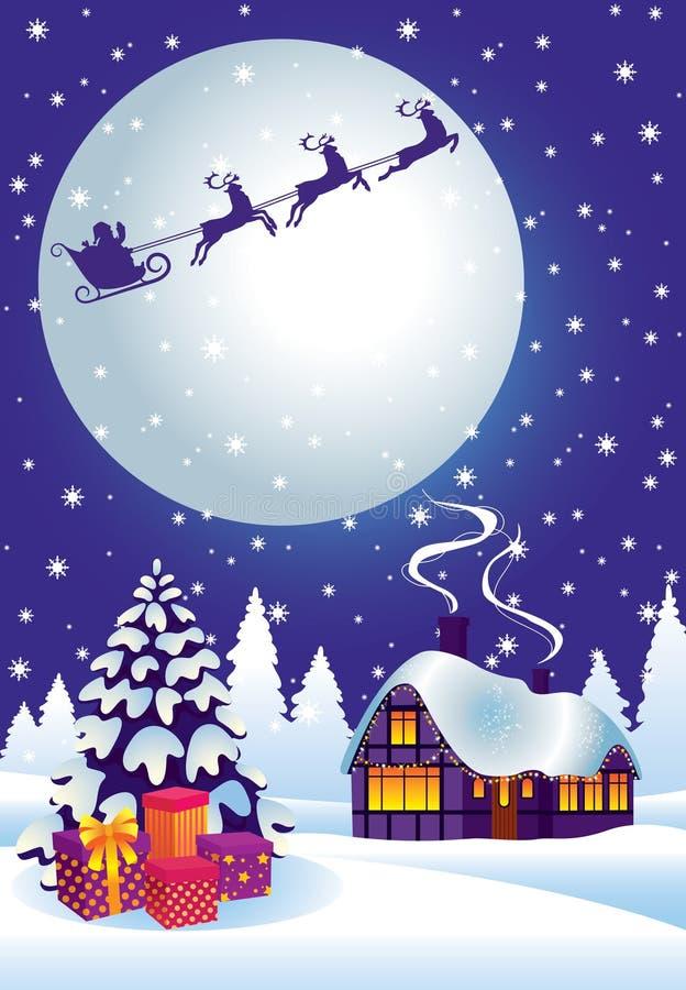 Réveillon de Noël magique illustration libre de droits