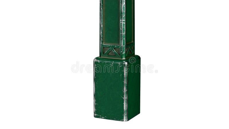 Réverbère de pilier de courrier, vue étroite photo libre de droits