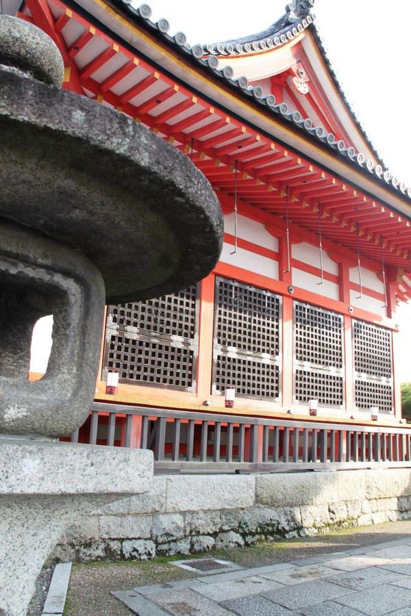Réverbère de Toro au temple de Kiyomizu-dera, Kyoto image libre de droits