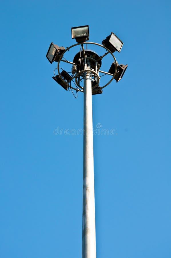 Réverbère et ciel bleu photos libres de droits