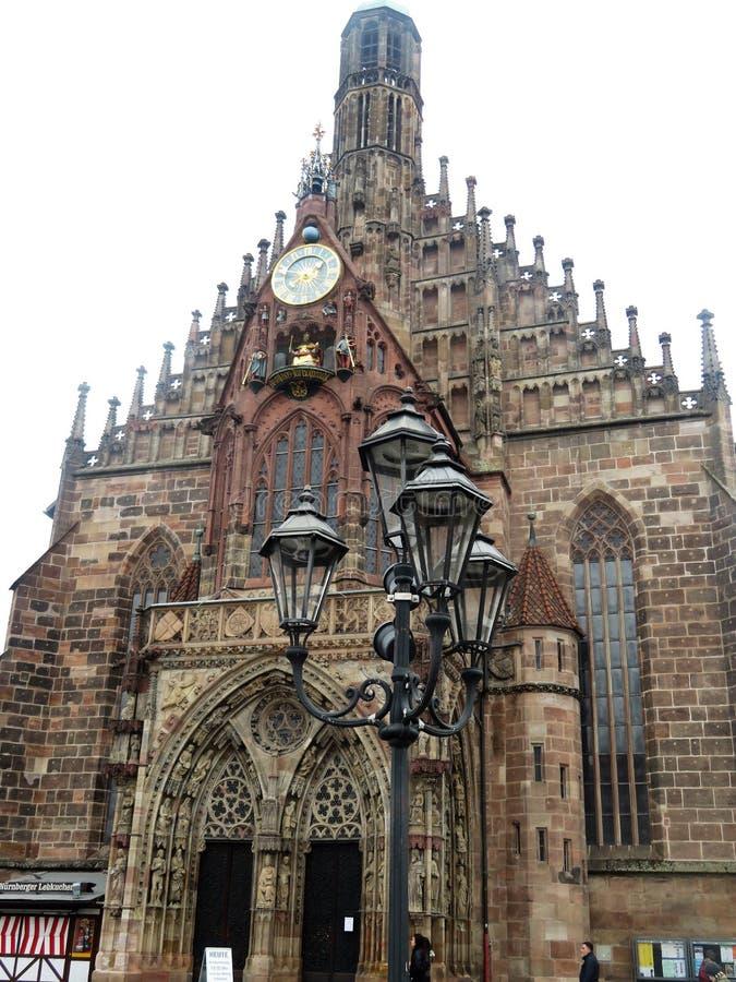 Réverbères à Nuremberg, Allemagne images libres de droits