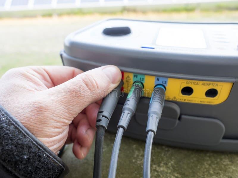 Révision électrique images stock