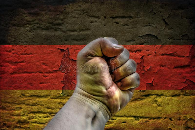 Révolution de l'Allemagne illustration stock