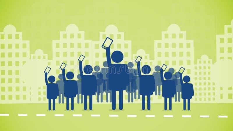Révolution de téléphones portables illustration libre de droits