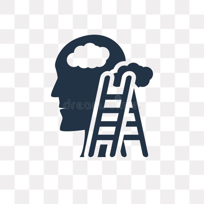 Rêvant l'icône de vecteur d'isolement sur le fond transparent, Dreamin illustration stock