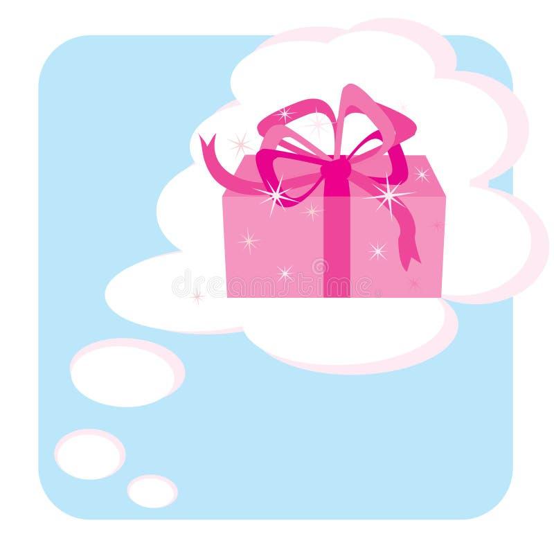 Rêve au sujet de cadeau illustration stock
