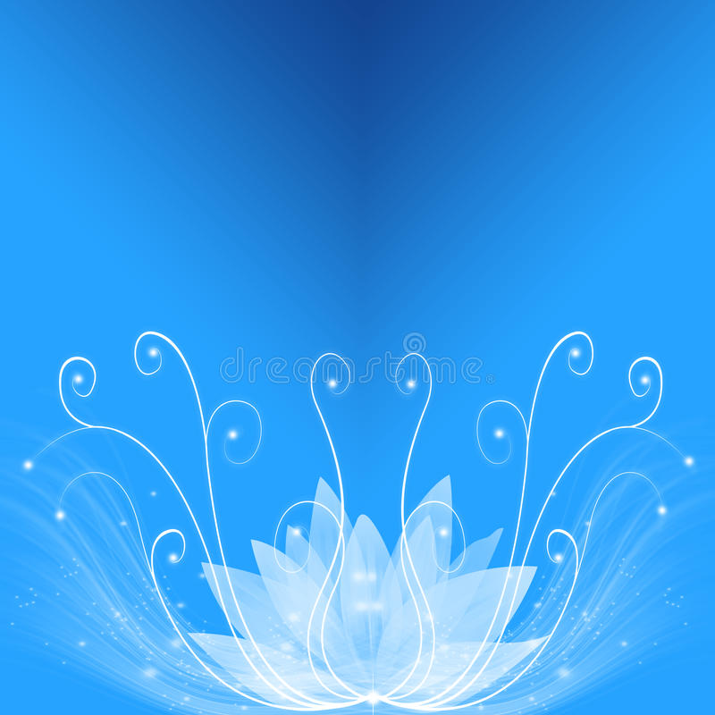 Rêve bleu illustration stock